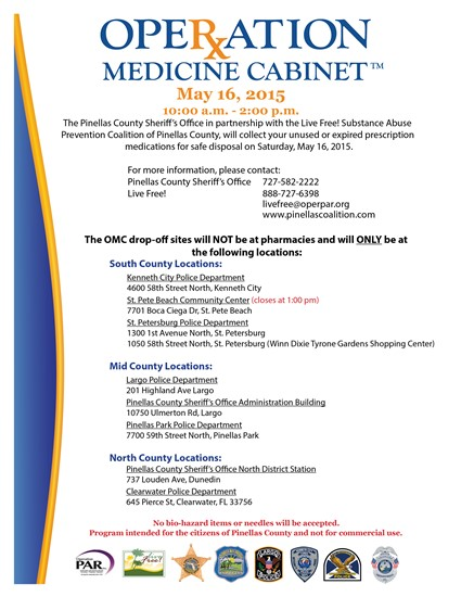 15-111 Operation Medicine Cabinet Event Scheduled For