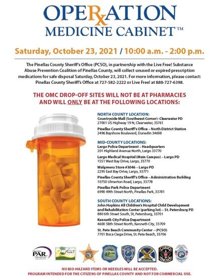 18-083 ***UPDATE*** Operation Medicine Cabinet Event